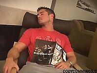 Cody cummings beating his hard cock